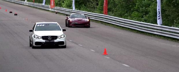 DRAG RACE: Un E63 AMG tunat se da, pe rand, cu un M6, un TT-RS si un ZR1