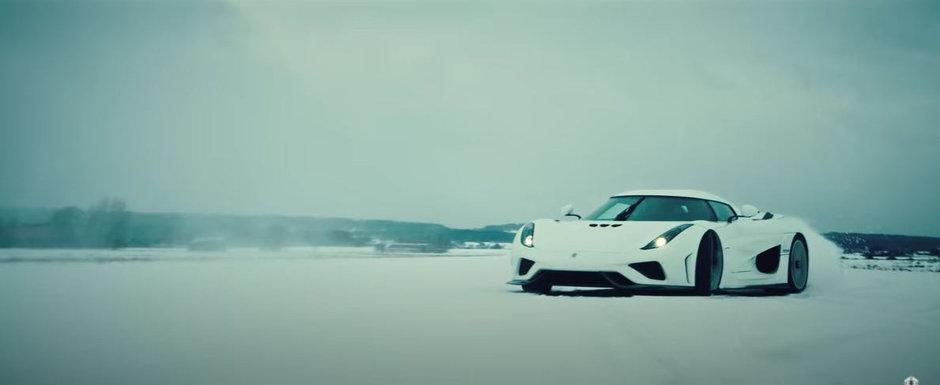 Drift de sezon cu Koenigsegg Regera. Asa te distrezi cu 1500 de cai pe zapada