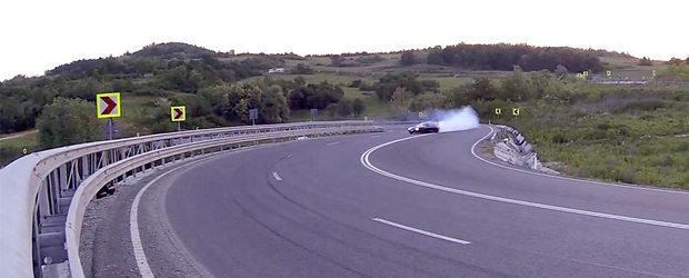 Drifturi cu Toyota Supra in Romania: Tengu merge de-a latul in viteza mare