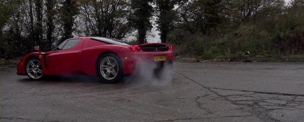 Drifturi in slow-motion cu Ferrari Enzo