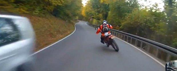 Drifturi pe 2 roti cu un motor KTM EXC 300