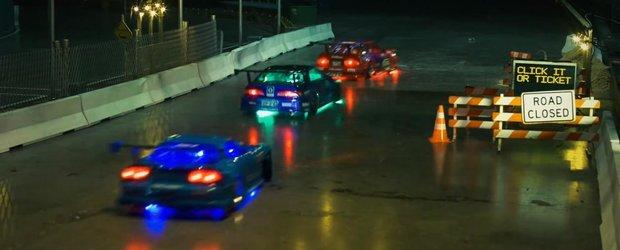 Drifturi pe timp de noapte cu masinute RC arata demential si foarte real!