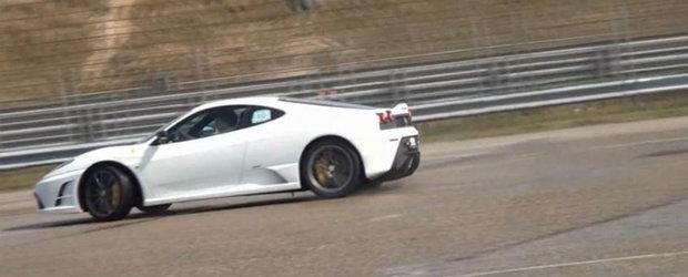Drifturi si orgasme sonore cu Ferrari F430 Scuderia