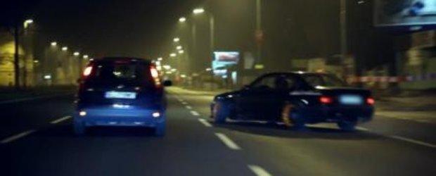 Drifturi urbane in Polonia cu un BMW pisicuta