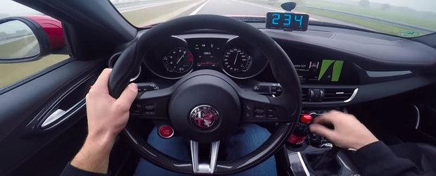 Drumul spre 300 de km/h cu Alfa Romeo Giulia Quadrifoglio