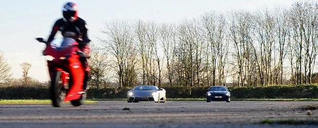 Ducati 1098. Nissan GT-R. Lamborghini Reventon. DRAG RACE!