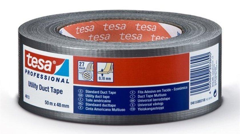 DUCT TAPE - BANDA ADEZIVA NEAGRA 50M/48 MM TESA 4613-00046-00 <br>