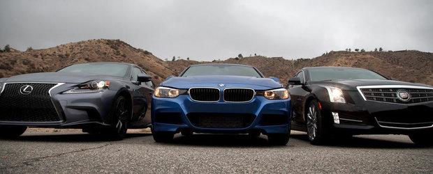 Duel in clasa medie: Noul Lexus IS, fata in fata cu BMW Seria 3 si Cadillac ATS