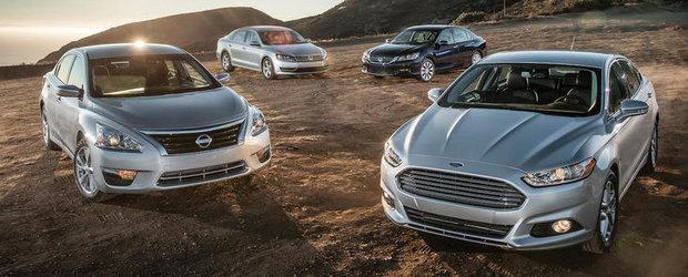 Duel in clasa medie: VW Passat, fata in fata cu Ford Fusion, Honda Accord si Nissan Altima