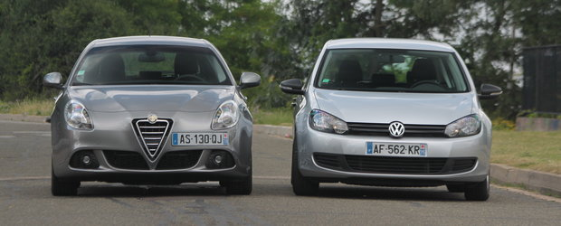 Duel in familia hot-hatch: Alfa Romeo Giulietta vs. VW Golf VI