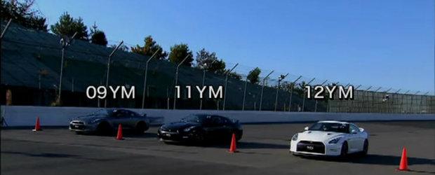 Duel in familie: Nissan GT-R 2009 vs. Nissan GT-R 2011 vs. Nissan GT-R 2012