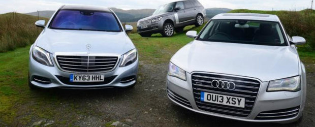 Duel in segmentul de lux: Noul Mercedes S-Class, fata in fata cu Audi A8 si Range Rover