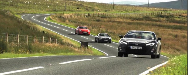 Duel in trei: Toyota GT86 versus Nissan 370Z versus Porsche Cayman S