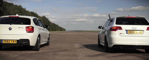 Duel intre hot-hatch-uri: Audi RS3 Sportback versus BMW M135i