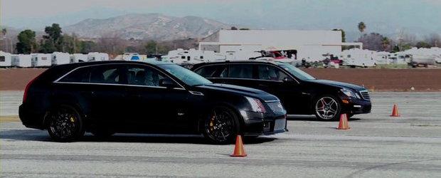 Duel intre super-break-uri: Cadillac CTS-V Wagon versus Mercedes E63 AMG Estate