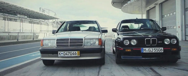 Duel legendar intre BMW M3 E30 si Mercedes 190E 2.3-16!