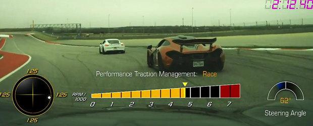 Duel pe circuit: Noul Corvette Z06 incearca sa tina pasul cu extremul McLaren P1