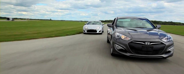 Duel pe circuit: Scion FR-S vs. Hyundai Genesis Coupe vs. Mazda MX-5