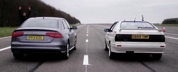 Duelul generatiilor: Audi A4 TDI quattro versus Audi Quattro 20V