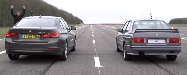 Duelul generatiilor: BMW 320d F30 versus BMW M3 E30