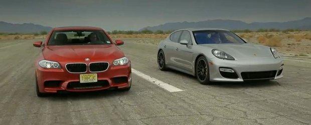 Duelul limuzinelor: BMW M5 vs. Porsche Panamera GTS