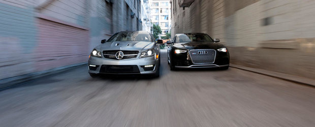 Duelul V8-urilor germane: Audi RS5 vs Mercedes C63 AMG 507 Edition
