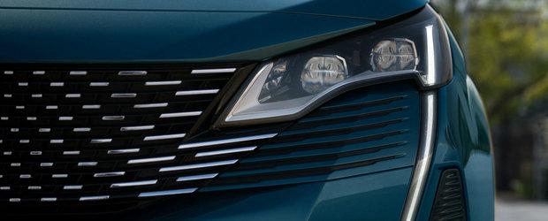 Dupa modelul fratelui mai mic. PEUGEOT publica primele imagini cu noul 5008 facelift, cel mai mare SUV din gama