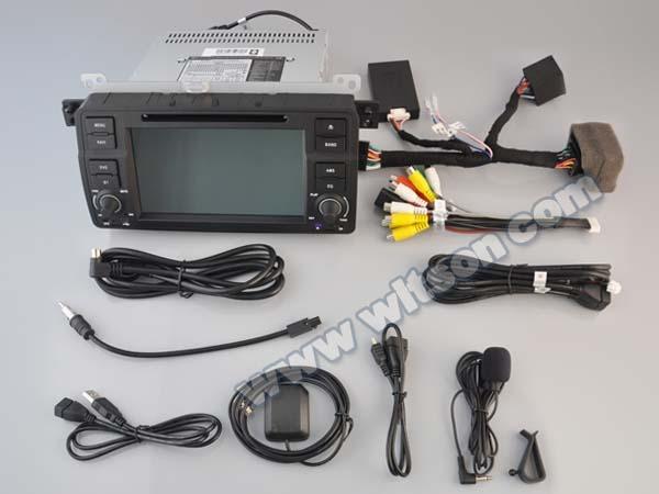 DVD AUTO NAVIGATIE ANDROID 5.1.1 DEDICATA BMW E46 WITSON W2-A9756B INTERNET WIFI PROCESOR QUAD-CORE