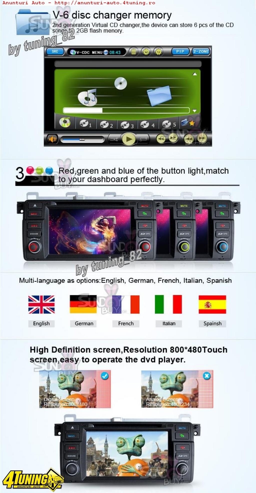 DVD AUTO NAVIGATIE Tti 8952i BMW SERIA 3 E46 Internet 3g Wifi Gps Dvd Tv Carkit Butoane Cauciucate Oem Picture In Picture Model 2012