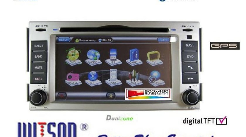 Dvd Auto Navigatie WITSON W2-D773Y Dedicata Hyundai Santa Fe INTERNET 3G WI FI DVD GPS CARKIT USB DIVX TV PICTURE IN PICTURE