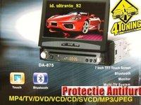DVD CU ECRAN RETRACTABIL 7'' FATA DETASABILA TV TUNER DIVX USB SI SD