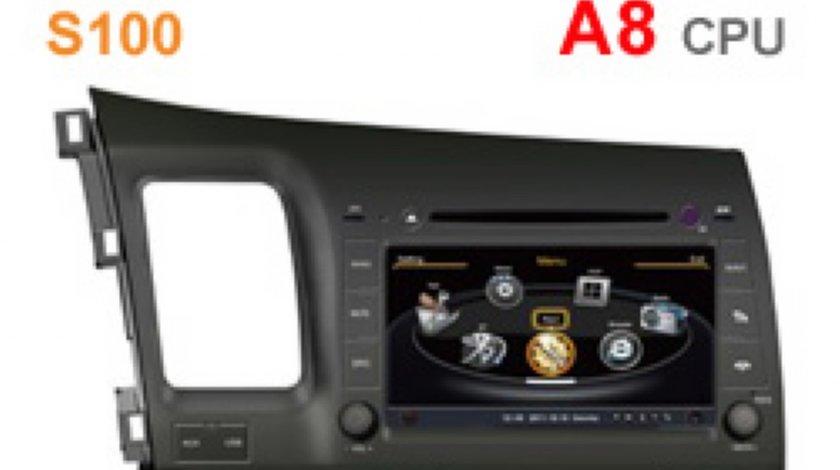 Dvd Gps Auto Navigatie Dedicata Honda Civic Sedan Navd C044 PLATFORMA S100 GPS TV DVR CARKIT