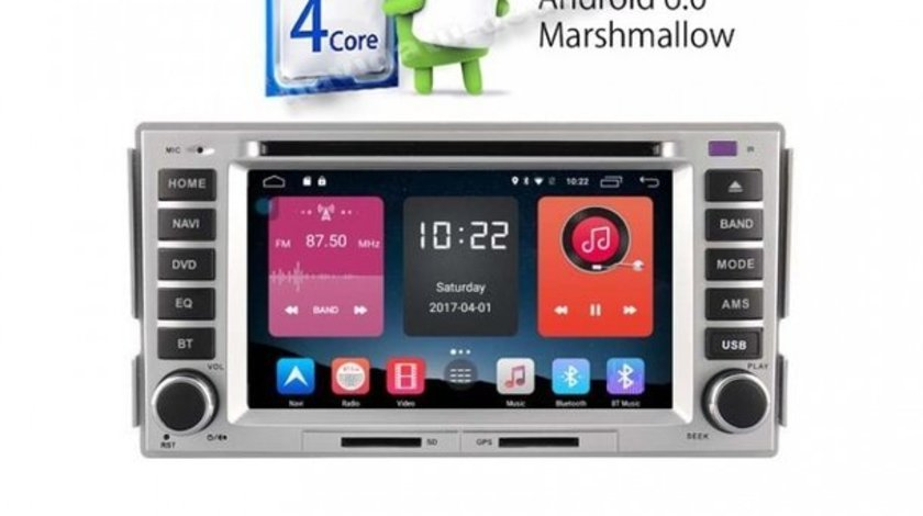 Dvd GPS Auto Navigatie Hyundai Santa Fe GPS CARKIT IPOD TV ECRAN CAPACITIV MIRRORLINK USB NAVD A008