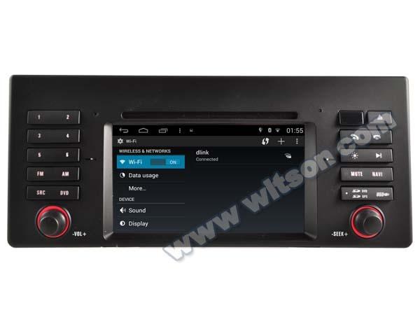 DVD NAVIGATIE ANDROID DEDICATA BMW X5 E53 SERIA 5 E39 SERIA 7 E38 WITSON W2-M082 PLATFORMA S160 16GB