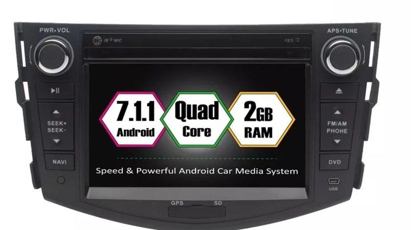 DVD NAVIGATIE ANDROID DEDICATA TOYOTA RAV4 2006-2012 ECRAN IPS 16GB 2GB RAM INTERNET 3G WIFI GPS