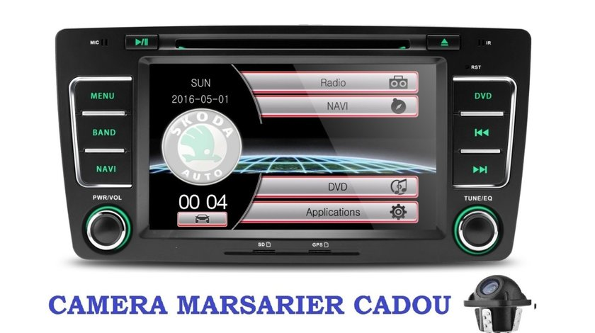 Dvd Navigatie Gps Skoda Octavia 2 Facelift Superb Yeti Bluetooth USB