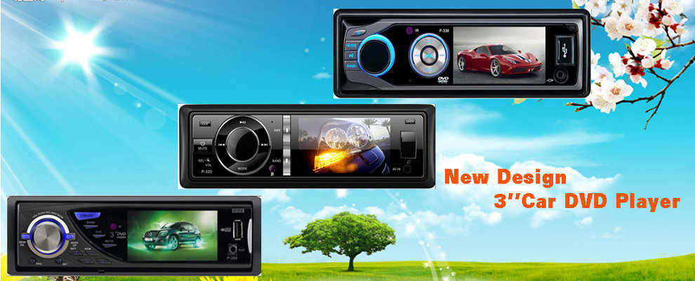 Dvd Player Auto 1DIN Universal Ecran 3'' Fata Detasabila DIVX 2 Iesiri Video Model P-300