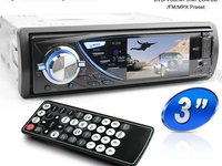 Dvd Player Auto 1DIN Universal Ecran 3'' Fata Detasabila DIVX 2 Iesiri Video Model P-300