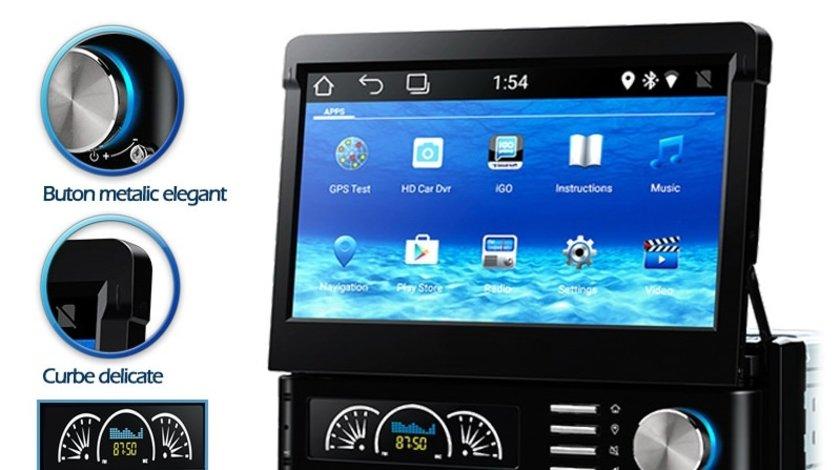 DVD PLAYER AUTO ANDROID ECRAN RETRACTABIL CAPACITIV 7'' EDT-G002 FATA DETASABILA INTERNET 3G WIFI