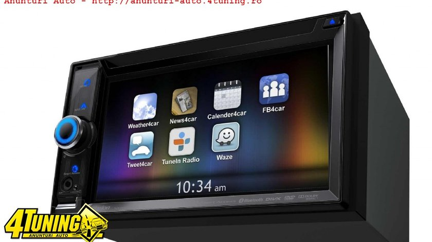 DVD Player Auto Clarion NX503E 2DIN Universal 4x50W iPod iPhone Aux USB MP3 MP4 DivX