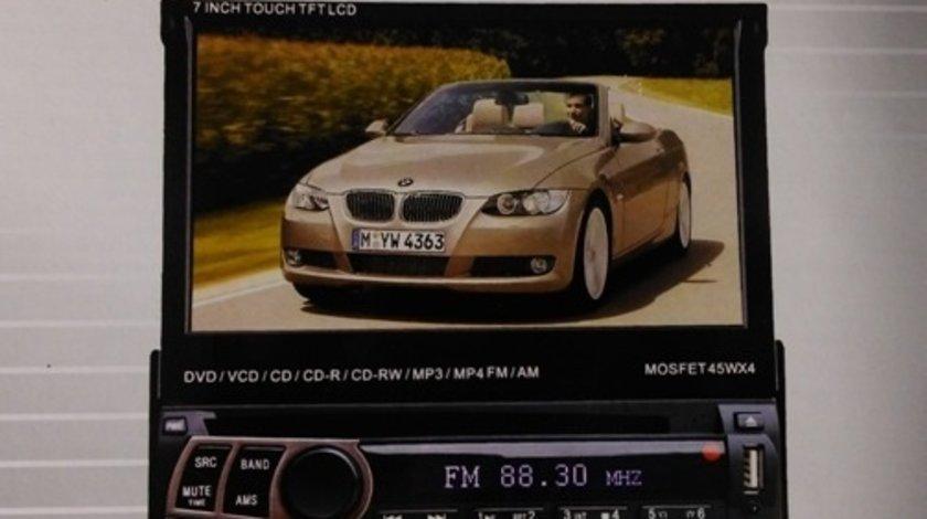 DVD PLAYER AUTO CU ECRAN RETRACTABIL LCD 7'' FATA DETASABILA USB SD