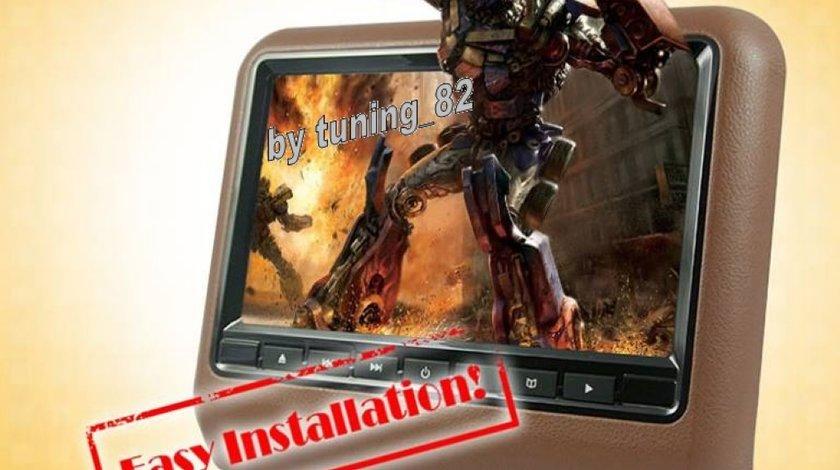 Dvd Player Auto Cu Prindere Pe Tetiera Jvj Dv9917 Crem Lcd 9 Usb Sd Player Rezolutie Hd Jocuri