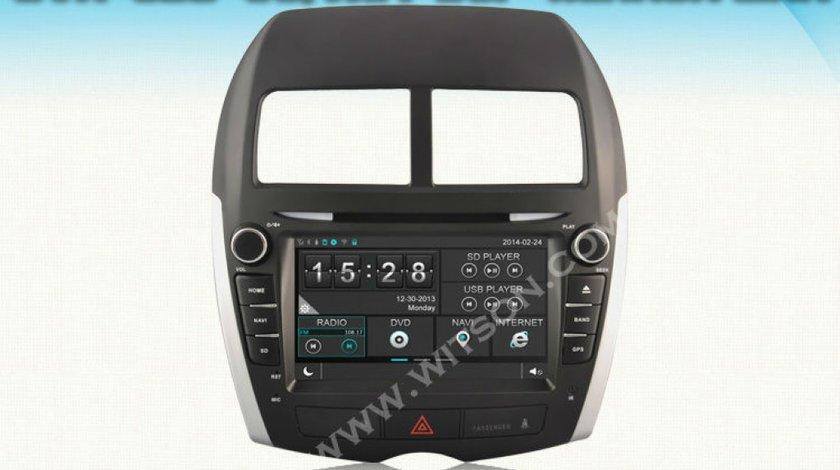 Dvd Player Auto Navigatie Dedicata Mitsubishi Asx Peugeot 4008 Citroen C4 Aircross NAVD D8843Z Win8 Style Dvd Player Gps Tv Carkit Internet 3g Wifi Ecran Capacitiv Model 2015