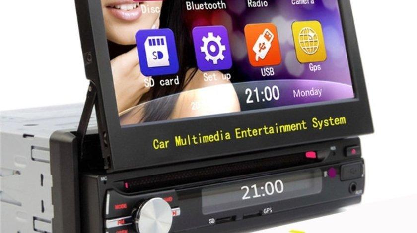 DVD PLAYER AUTO UNIVERSAL ECRAN RETRACTABIL 7'' LOGO SELECTABIL CARKIT USB SD MODEL BEKO ZS-8801