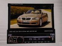 DVD PLAYER AUTO UNIVERSAL ECRAN RETRACTABIL LCD 7'' FATA DETASABILA TV USB SD MODEL D712