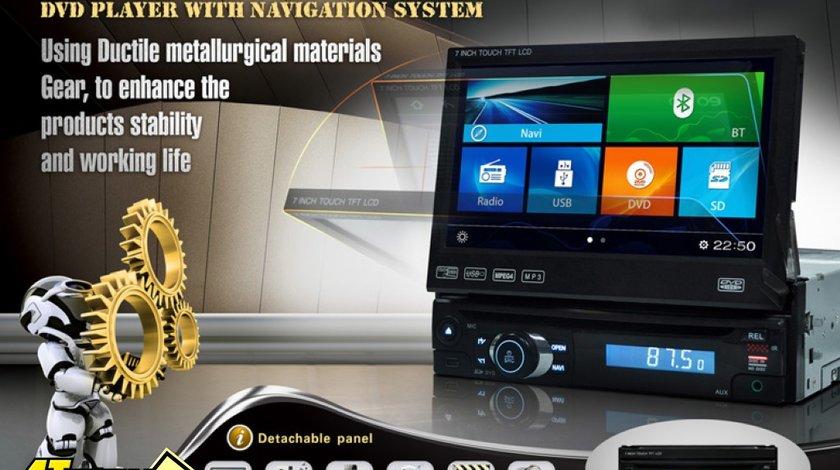 DVD PLAYER AUTO UNIVERSAL ECRAN RETRACTABIL LCD 7'' PNI U8008 FATA DETASABILA TV USB SD