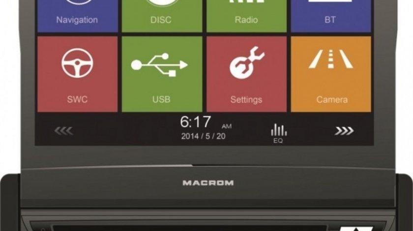DVD RETRACTABIL MACROM M-DVD 6560 1DIN UNIVERSAL LCD 7'' GPS CARKIT MODEL PREMIUM