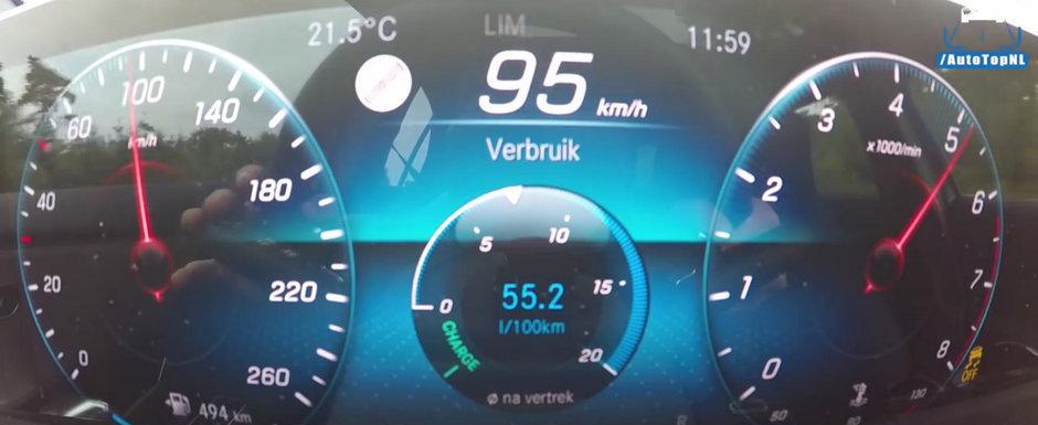 E cel mai mic motor pe care il poti pune pe un Mercedes. Cat de repede accelereaza propulsorul de 1.3 litri pana la 225 km/h