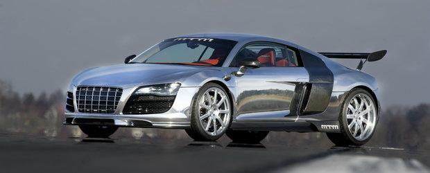 E cel mai tunat Audi R8 din lumea intreaga. Are motor de RS6 si o caroserie la care s-a lucrat 700 de ore.