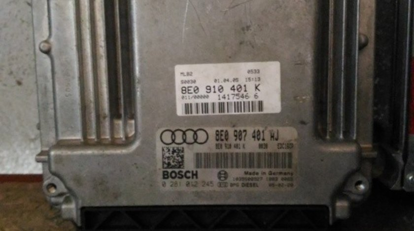 ECU AUDI A4 8E 3.0 TDI 204 CP 8E0910401K 0281012245